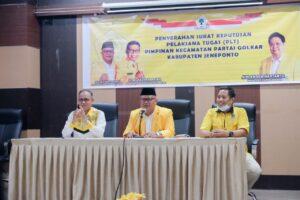 6 Pimpinan Kecamatan Terima SK Plt, DPD II Golkar Incar Ketua DPRD Jeneponto