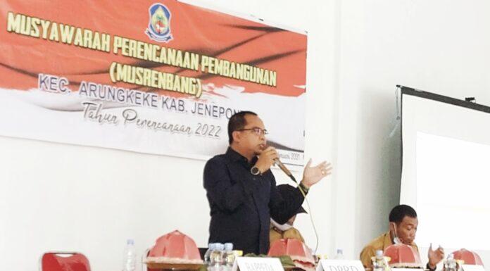 Camat Arungkeke Gelar Musrembang, Ketua Fraksi PKB DPRD Jeneponto Siap Mengawal