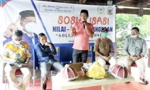 Tanamkan Solidaritas Sosial, Anggota DPRD Sulsel, Syamsuddin Karlos Sosialisasi Nilai-Nilai Kebangsaan di Jeneponto