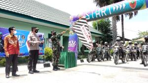 Launching Tagline ASR, Dandim 1425 Jeneponto Lepas Penyaluran Bantua Kodam XIV Hasanuddin